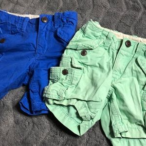 Set of 2- boys colored cargo shorts
